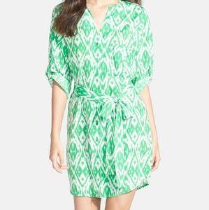 Collective Concepts Green Medium Shirt Dress